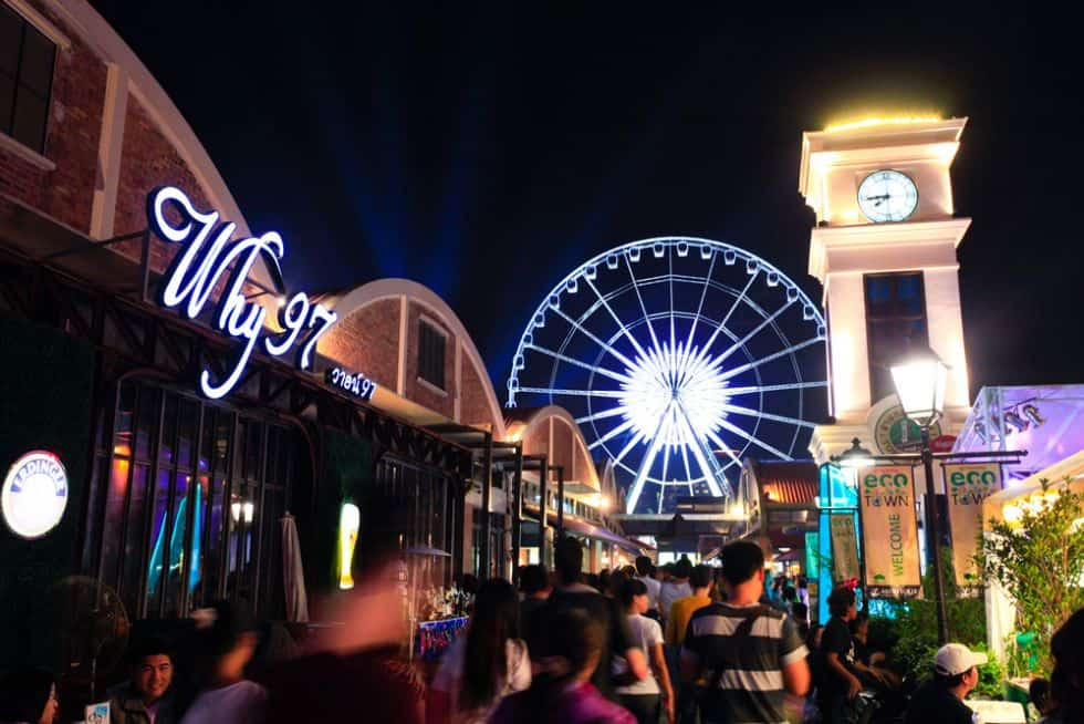 Asiatique Nachtmarkt in Bangkok