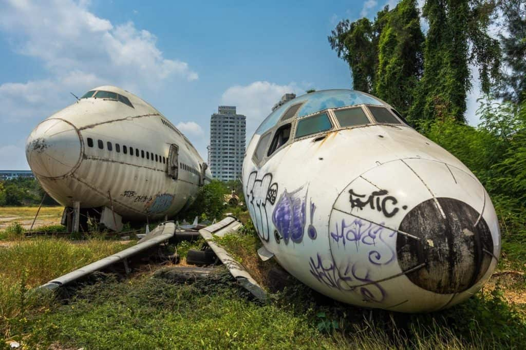 Sehenswürdigkeiten in Bangkok - Flugzeugfriedhof